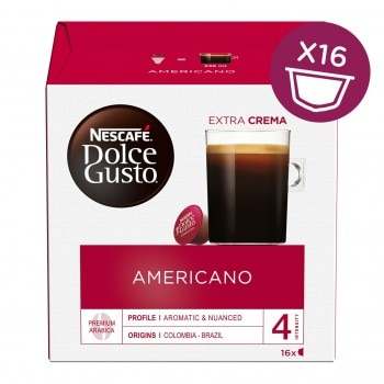 Americano Coffee With Red Box