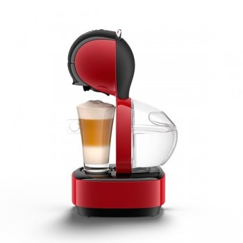Lumio Automatic Red Coffee Machine by Krups